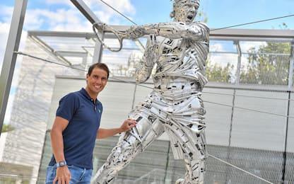 Roland Garros, una statua per Nadal. FOTO