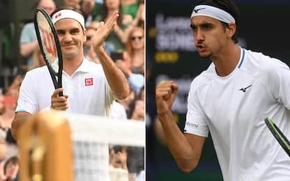 Federer non sbaglia: agli ottavi contro Sonego