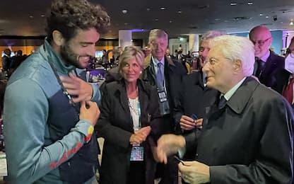 Wembley, Mattarella incontra Berrettini. FOTO