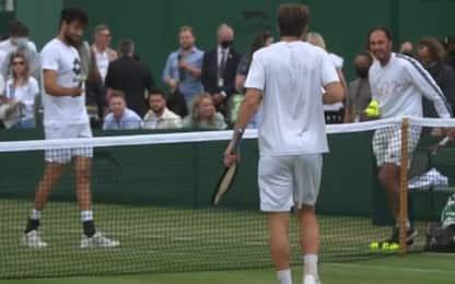 Berrettini-Djokovic, l'allenamento pre-partita