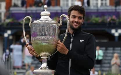 Berrettini 'vede' il n° 8 Federer: il ranking ATP
