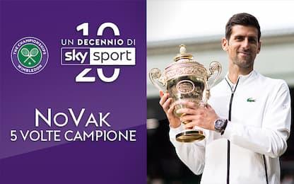 Un decennio di Sky Sport: NoVak, 5 volte campione