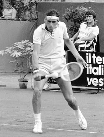 Il tennista italiano Corrado Barazzutti in una immagine di metà anni '70. ANSA