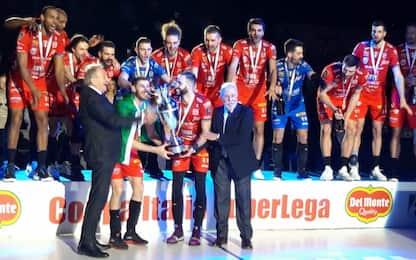 La Coppa Italia è della Lube: 3-2 a Perugia