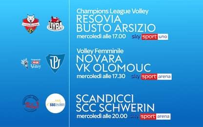 Volley femminile, la Champions LIVE su Sky