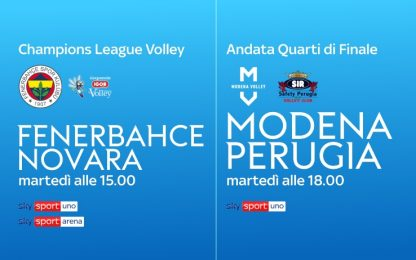 Volley, Champions su Sky: al via quarti di finale