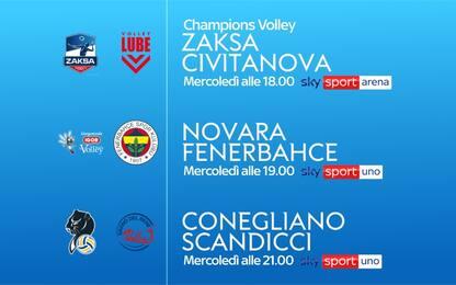 Volley, su Sky Sport torna la Champions