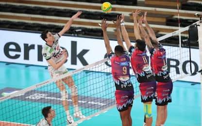 E' derby di Champions: Perugia-Trento LIVE su Sky