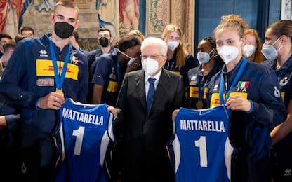 """Italvolley da Mattarella: """"Reso onore alla maglia"""""""