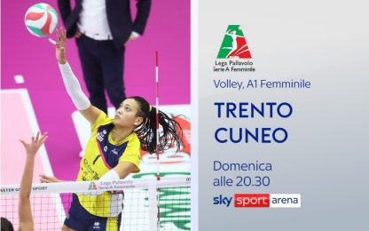 Volley femminile, domenica su Sky Trento-Cuneo