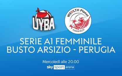 Volley femminile, Busto Arsizio-Perugia su Sky