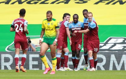 Norwich City-West Ham 0-4