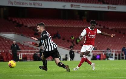 Aubameyang lancia l'Arsenal, Newcastle battuto