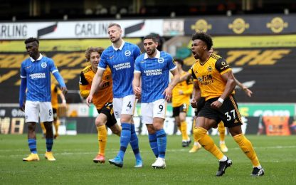 Wolves-Brighton 2-1