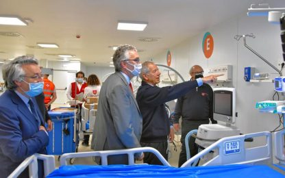 Coronavirus: sanitari in 'possesso' Covid Center Civitanova