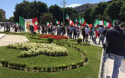 2 giugno, c.destra affolla piazza Cavour ad Ancona