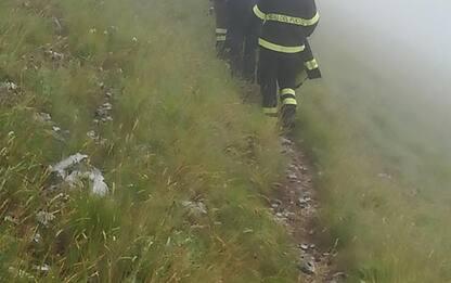 Escursionista scivola in dirupo, soccorsa da Vvf e Cnsas