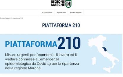 Fase 3: Marche, 60 mln in due settimane da Piattaforma 210