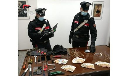 Furti: raffica colpi Val Musone, 4 arrestati da Cc
