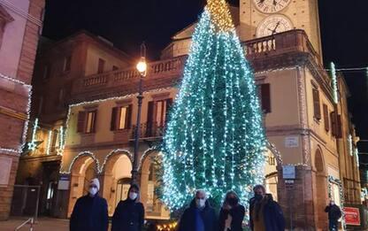 Natale, Tolentino accende grande albero