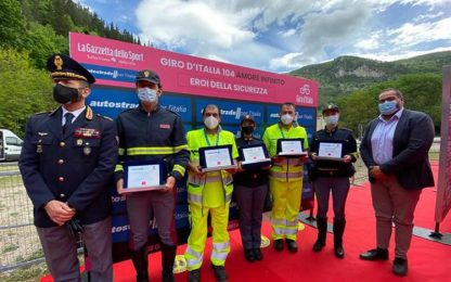 Giro: Ps e Aspi, premi a Eroi Sicurezza a Frasassi