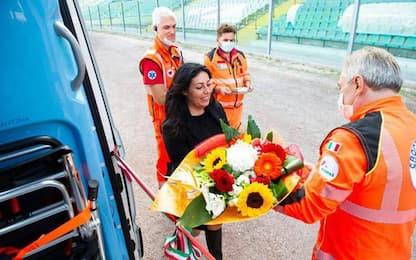 Nuova ambulanza Croce Gialla prima Ancona Matelica-Lucchese