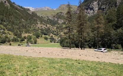 Colata detritica, isolati 40 escursionisti a Ollomont