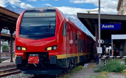 Ferrovie: servizio gratuito in Valle d'Aosta per tutto 2020
