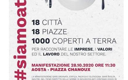 Covid: ConfCommercio scende in piazza ad Aosta