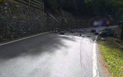 Frane: caduta massi, chiusa strada per Colle San Carlo da Morgex