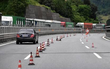 Autostrade: Caveri, per lavori Aosta-M.Bianco a corsia unica