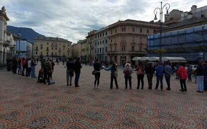 Green pass, manifestanti tornano in piazza ad Aosta