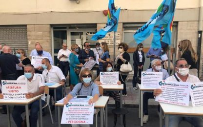 protesta dirigenti Puglia, mancano spazi