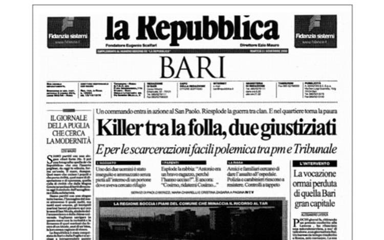 Repubblica Bari Compie 20anni Libro Omaggio Su Fatti Citta Sky Tg24
