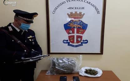 Droga: in auto con 1,2 kg di marijuana, arrestata coppia