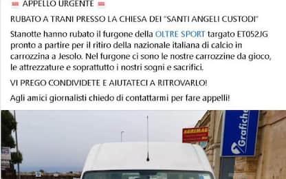 Rubato in Puglia furgone nazionale di calcio in carrozzina