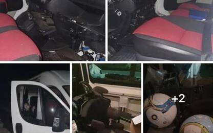 Ritrovato furgone e attrezzi nazionale calcio in carrozzina