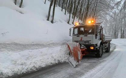 Maltempo: oltre mezzo metro di neve sull'Appennino emiliano