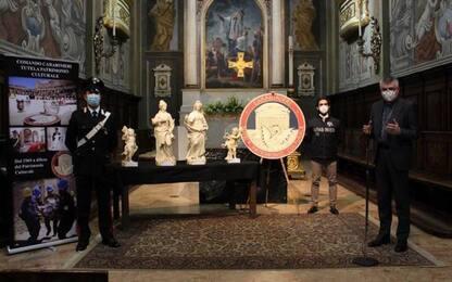 Statue tornano nella chiesa di Piacenza dove furono rubate
