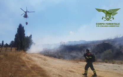 Incendi: caldo e vento, 21 roghi scoppiati nell'isola