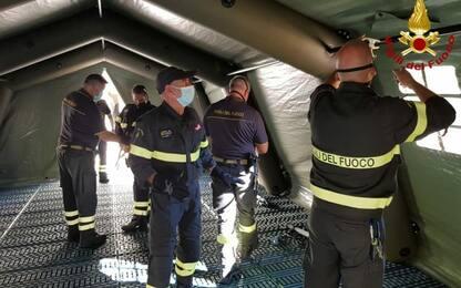 Covid: a Sassari letti pronto soccorso in tende da campo
