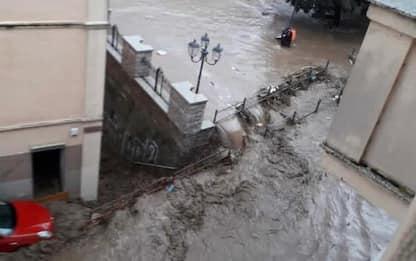 Alluvione Sardegna: 70enne salvato dall'acqua da Carabinieri