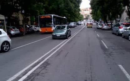 Via cura e sostituzione alberi in Largo C. Felice a Cagliari