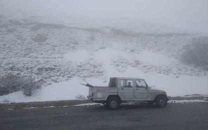 Maltempo: nevica su monti del Gennargentu in Sardegna