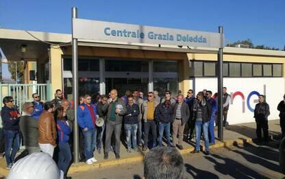 Energia: sciopero e sit-in operai appalti centrale Sulcis
