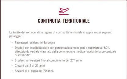 Aerei: Volotea, puntuali al 95% su voli agevolati Sardegna