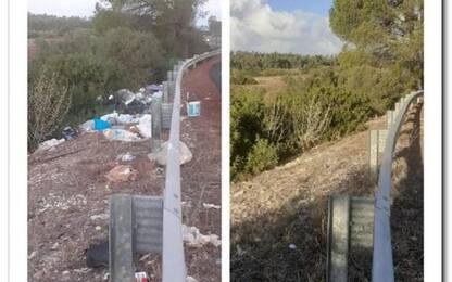 Anas: 43 tonnellate di rifiuti rimossi dalla statale 130