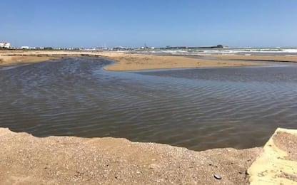 Tratto spiaggia Rio-Vivo cancellata da esondazione torrente