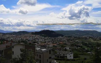 Spettacolo delle Frecce Tricolori sul cielo di Campobasso