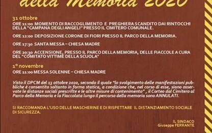Giornata della Memoria, annullata fiaccolata a San Giuliano